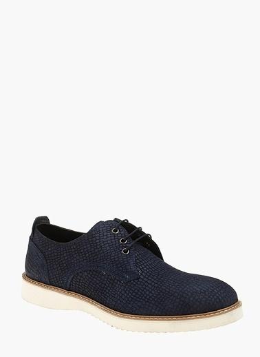 Divarese %100 Deri Bağcıklı Ayakkabı Lacivert